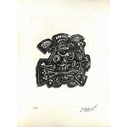 aztèque sur cuivre